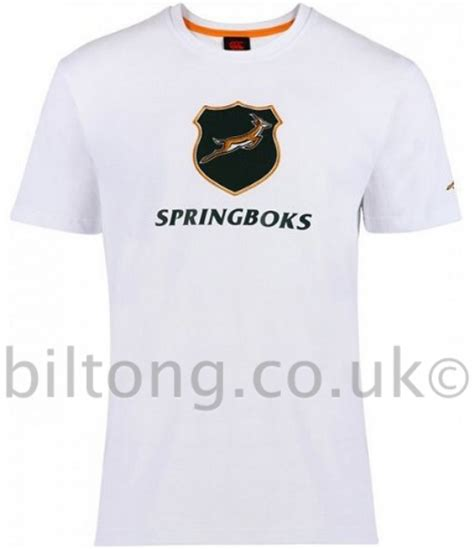 White T Shirt 2013 by 2013 Springboks Graphic Coton Shirt White Susmans Best Beef Biltong Company Ltd