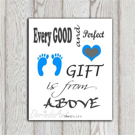 Bible Wall Stickers christian scripture james 1 17 bible verse baby boy by
