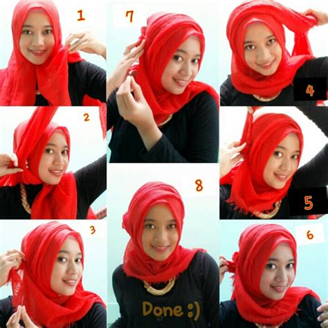 tutorial hijab bercadar tutorial hijab simple party foto 2 dream co id