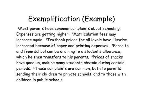 Exemplification Essay Exle by Exemplification Definition What Is