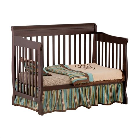 Side Crib by 4 In 1 Fixed Side Convertible Crib In Espresso 04587 459