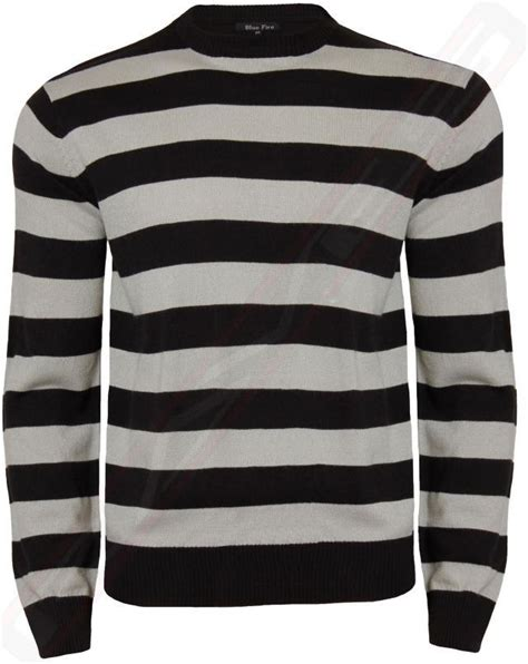 mens black patterned jumper mens striped jumper crew neck casual sweater knitwear top