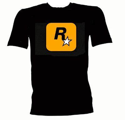 Rockstar Gta5 Logo Tshirt Mens rockstar logo t shirt grand theft auto cool