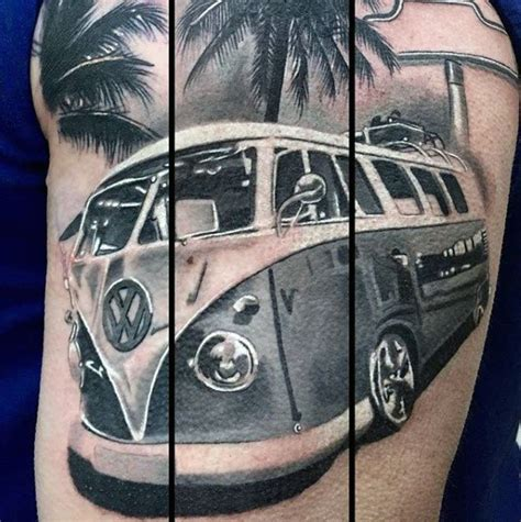 vw cervan tattoos designs 50 volkswagen vw tattoos for automotive design ideas