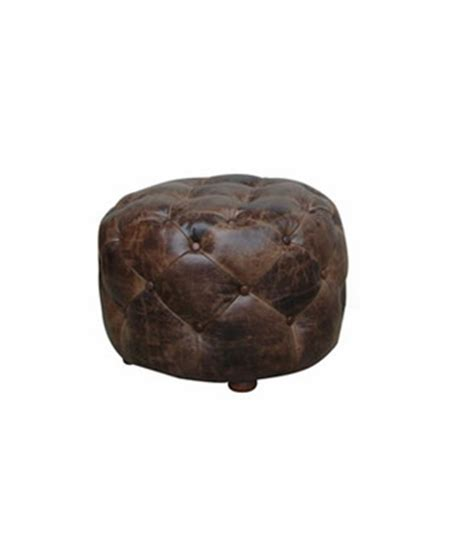 small round leather ottoman earle small round tufted leather ottoman