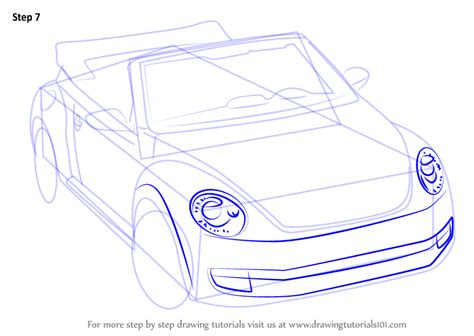 how to draw a convertible step by step cars draw cars learn how to draw volkswagen beetle convertible sports