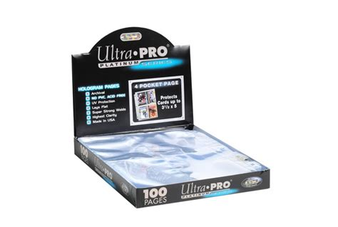 ultra pro platinum series 4 pocket 100 card pages topps