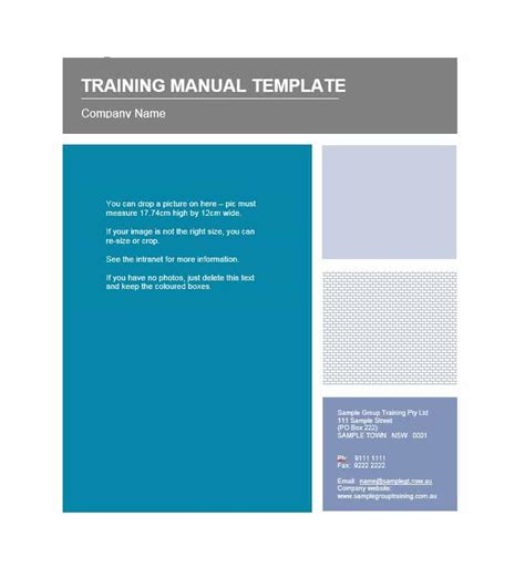 Training Manual Template Word Images Template Design Ideas Coaching Guide Template