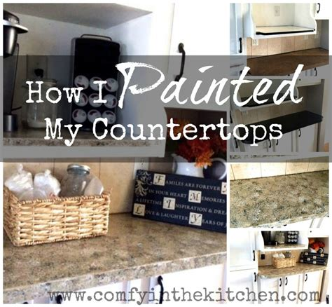 Can I Paint Countertops by How I Painted Countertops Comfy In The Kitchen