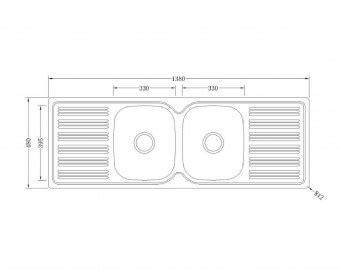 Kitchen Sink Specifications Pn1380 Kitchen Sink Builders Discount Warehouse