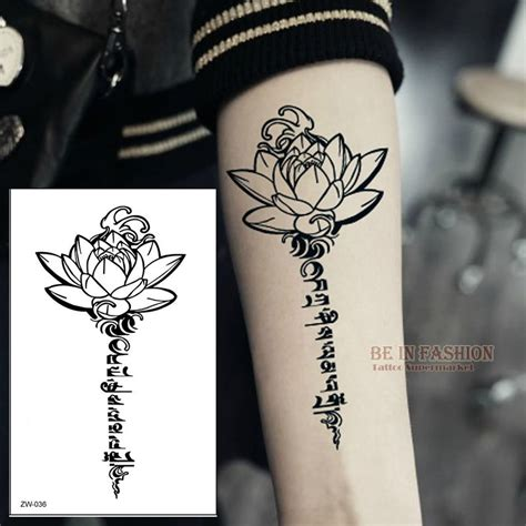 buddha henna tattoo aliexpress buy buddha lotus designs temporary