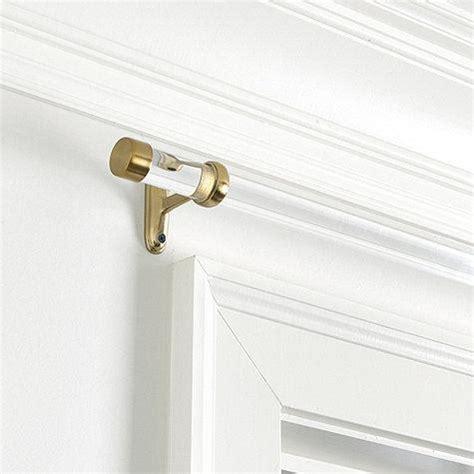 acrylic drapery rods window treatments brass curtain rod finial