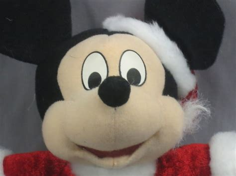 disney santa claus mickey mouse holiday suit hat plush