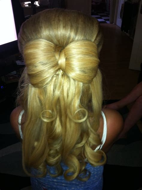 down hairstyles with bows half up half down hair bow comparetoptravel com hair