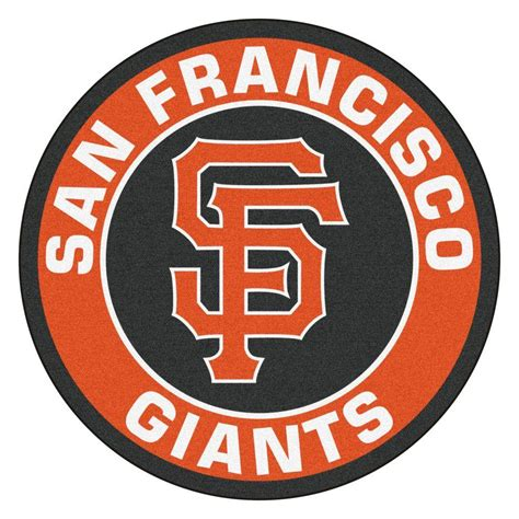 sf giants rug fanmats mlb san francisco giants orange 2 ft 3 in x 2 ft 3 in accent rug 18149 the