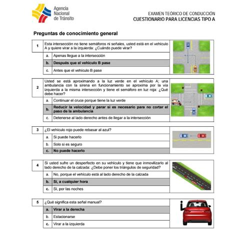 preguntas ant licencia tipo b pdf banco de preguntas para sacar licencia de conducir tipo a