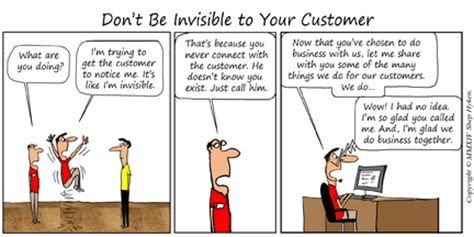 invisible customer service the customer must be reminded