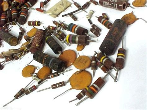 electrical parts resistors allen bradley 3 lb carbon resistors caps parts other electrical parts