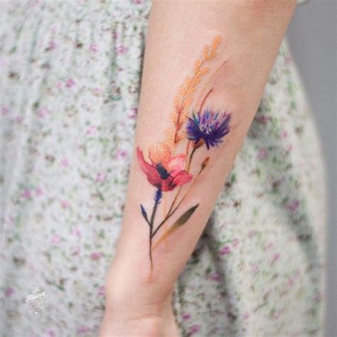 old watercolor tattoo 1000 ideas about vintage floral tattoos on