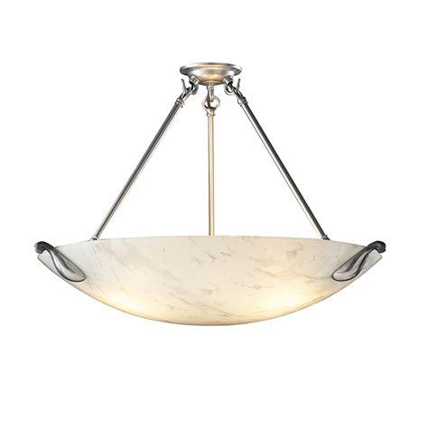 David Hunt Lighting Savoy 3 Light White Marble Ceiling White Pendant Light Fitting