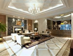 luxury modern living room with fireplace model cgtrader