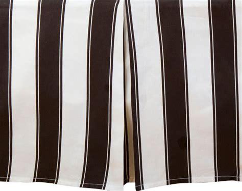 black and white stripe bed skirt modern