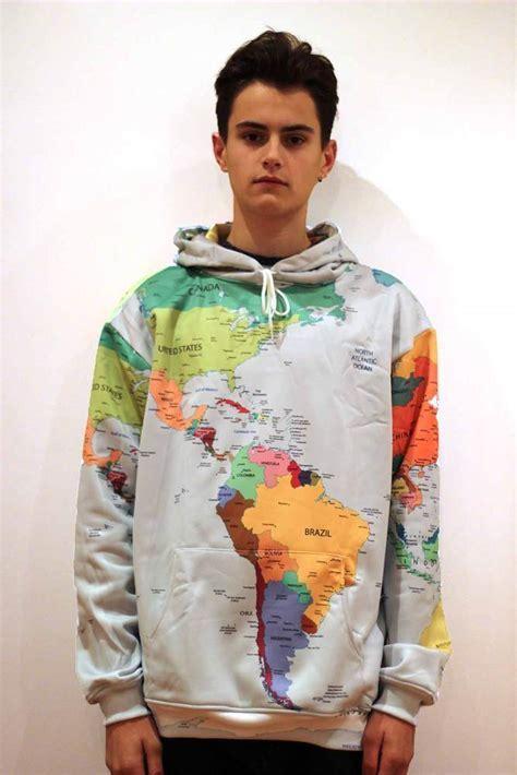 Blur Threads   World Map Hoodie