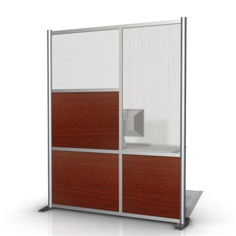 translucent room divider 60 quot wide x 75 quot high room divider cherry wood hammered