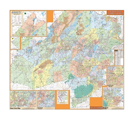 map of morris county new jersey morris county nj wall map ebay