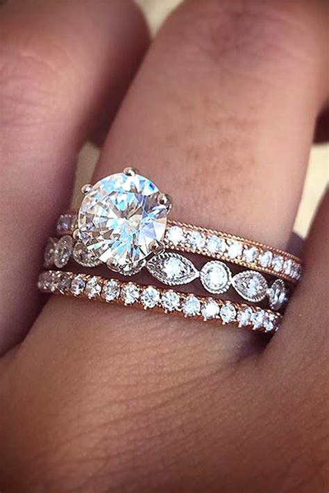 Gold And Engagement Rings by Best 25 Mismatched Wedding Bands Ideas On