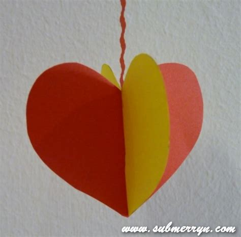 Paper Craft Hearts - crafty crafted crafts for children