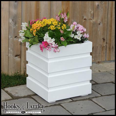 White Patio Planters Freeport Patio Planter White