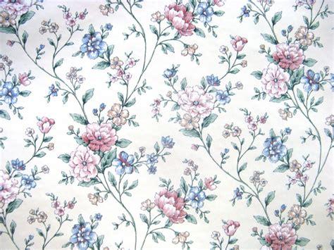 Floral Flowers by Blue Floral Vintage Wallpaper Wallmaya