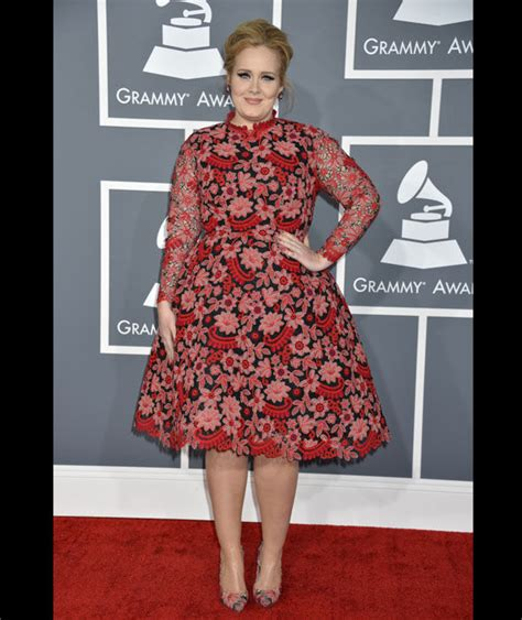 adele arrives at the 55th annual grammy awards at staples adele on the red carpet at the 55th annual grammy awards