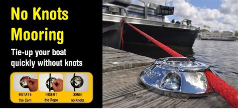 quick boat knots innovative no knot boating accessories quick cleat