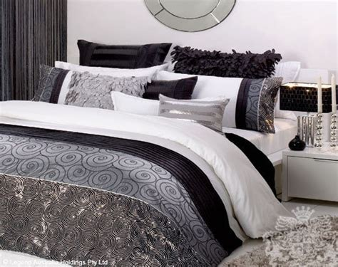 black white and grey bedding white black silver sequin bedding home pinterest