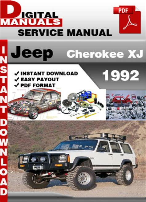 service manual car owners manuals free downloads 1992 dodge ram wagon b350 engine control jeep cherokee xj 1992 factory service repair manual download manu
