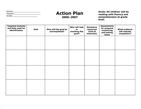 6 Sle Action Plan Template Teknoswitch Plan Template