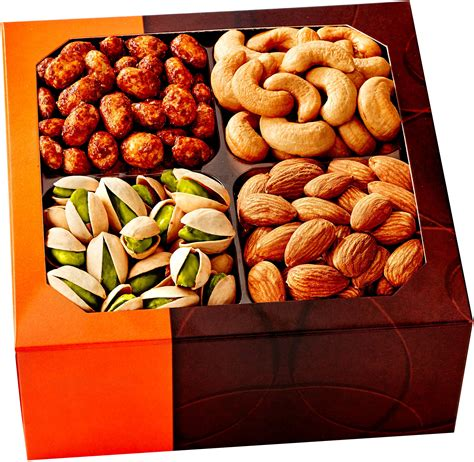holiday gourmet food nuts gift basket 7 different nuts five star gift baskets nut cravings gourmet nut medium gift tray with striking presentation 4