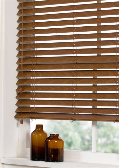 Ready Made Venetian Blinds by Faux Wood Venetian Blind Walnut Contemporary Ready Made