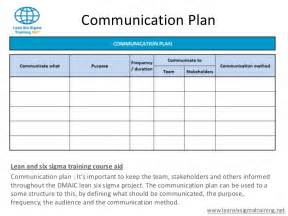 Communication Plan Template by Communication Plan Template Cyberuse