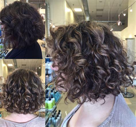 haircuts downtown sacramento curly hair balayage highlight on lob short bob natural