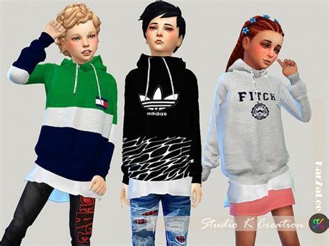 design fashion in a fashion studio sims giruto 46 hoodie sweater for kids at studio k creation