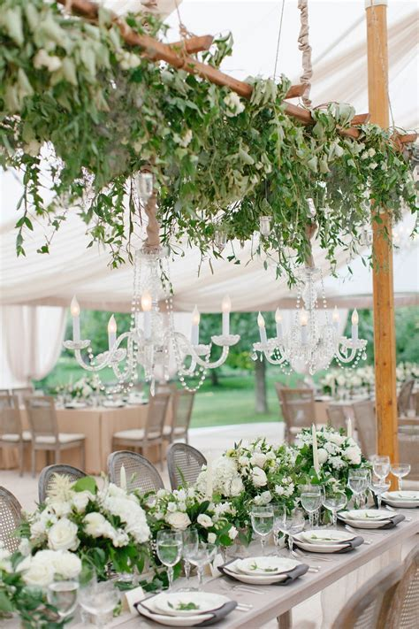 Tuscan greenery wedding in the Berkshires under a sail