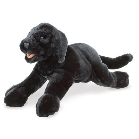 puppy puppet black labrador puppets by folkmanis puppets