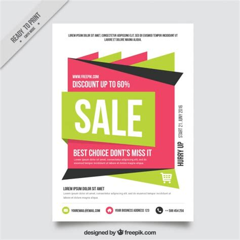abstract sale brochure vector free