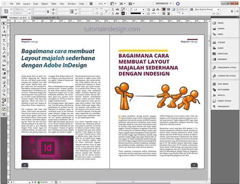 ukuran layout majalah cara membuat layout majalah sederhana dengan indesign