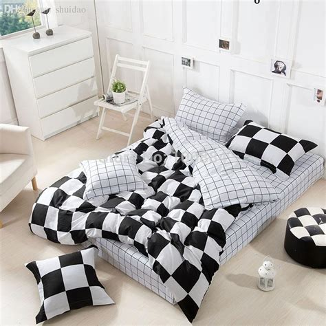 black and white grid pattern bedding wholesale new black and white grid bedding comforer sets