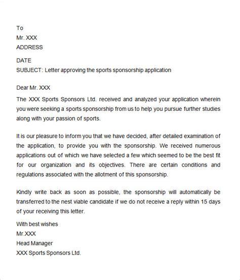 sponsorship letter templates ms word