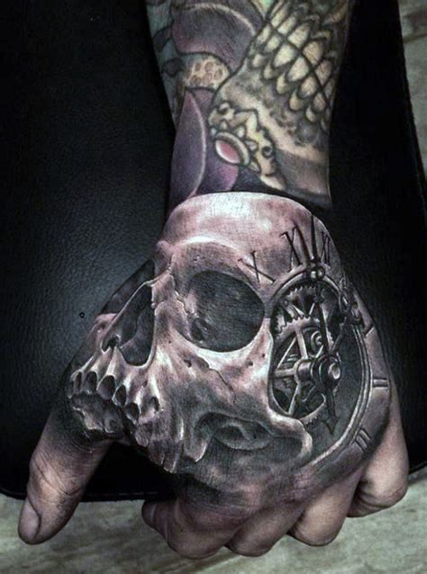 best tattoos for men on hand top 80 best skull tattoos for manly designs and ideas